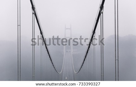 橋 · 中国 · トンネル · 吊り橋 · 道路 - ストックフォト © stephkindermann