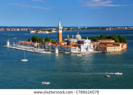 The church and monastery at San Giorgio Maggiore in the lagoon of Venice Stock photo © Virgin