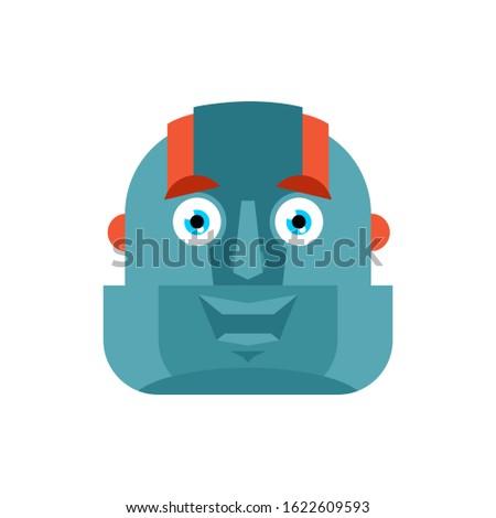uomo · testa · robot · cyborg · android · meccanica - foto d'archivio © popaukropa