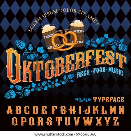 oktoberfest · cerveza · festival · invitación · color · tarjeta - foto stock © popaukropa