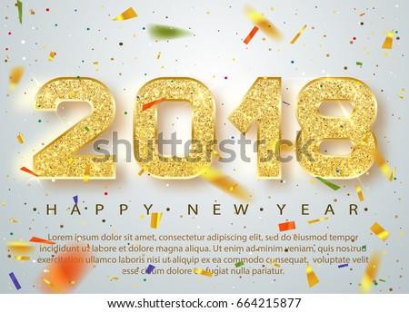 Vector gelukkig nieuwjaar illustratie kleurrijk typografie Stockfoto © articular