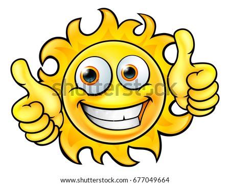 Mutlu sarı güneş karikatür yüz karakter Stok fotoğraf © hittoon