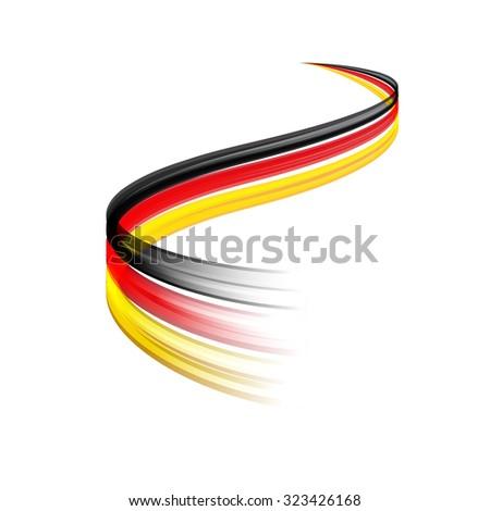 bandera · Alemania · dibujado · a · mano · ilustración · negro · país - foto stock © m_pavlov
