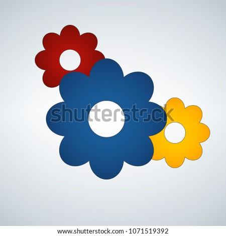 Tre fiori icona primavera simbolo sito web Foto d'archivio © kyryloff