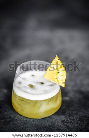 fresh organic pineapple and pomelo with ginger juice detox drink Stock photo © travelphotography