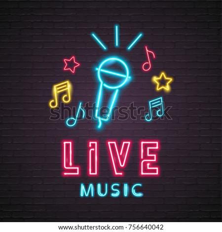 Zene illusztráció zenei hang világítás téglafal vektor Stock fotó © articular
