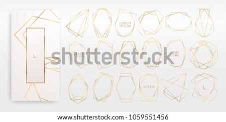 アールデコ 装飾的な フレーム 行 結婚式招待状 ストックフォト © m_pavlov
