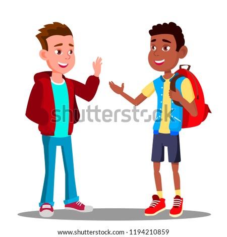 Kafkas erkek siyah diğer dostluk vektör Stok fotoğraf © pikepicture