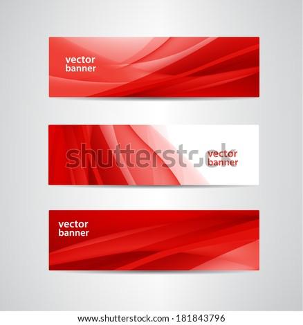 Streszczenie czerwony fali zestaw falisty linie Zdjęcia stock © m_pavlov