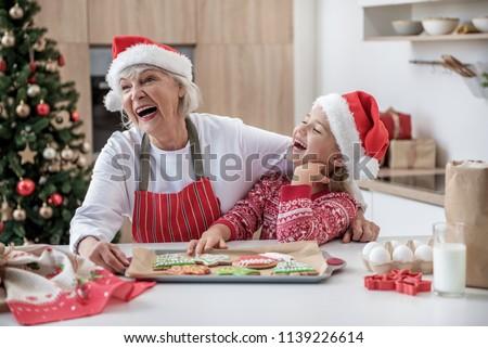 Feliz avó neta risonho harmonia vetor Foto stock © pikepicture