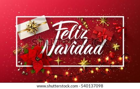 Vector Navidad ilustración espanol tipografía violeta Foto stock © articular