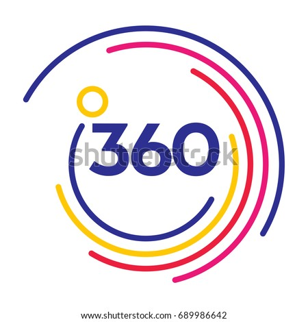 360 degrees view sign icon. vector illustration isolated on mode Stock photo © kyryloff
