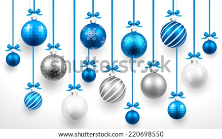 Azul Navidad pelota arco navidad vidrio Foto stock © olehsvetiukha