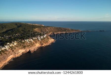 Kustlijn rustig middellandse zee zee antenne fotografie Stockfoto © amok