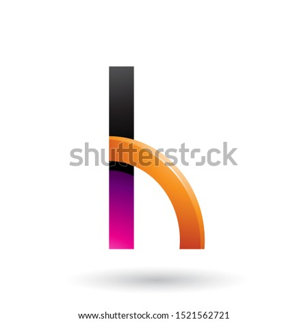 Magenta and Orange Letter H with a Glossy Quarter Circle Vector  Stock photo © cidepix