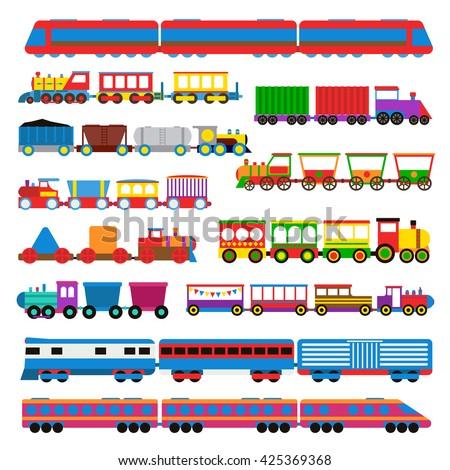 Locomotief vector kinderen speelgoed trein weg Stockfoto © pikepicture