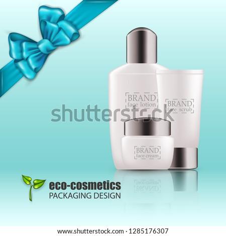 Kozmetikai üveg csomag vektor vásár szórólap Stock fotó © pikepicture