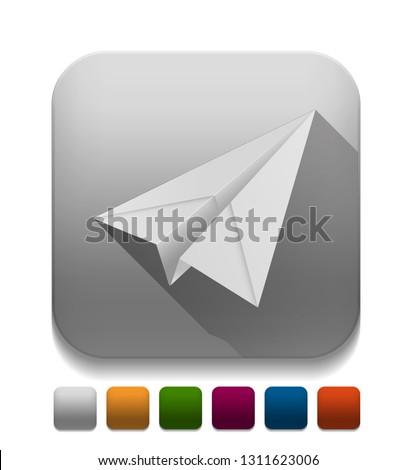 Chat Icon Speech bubble symbol over app button, vector illustrat stock photo © kyryloff