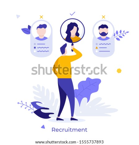 Manager naar vergrootglas baan kandidaat cv Stockfoto © RAStudio