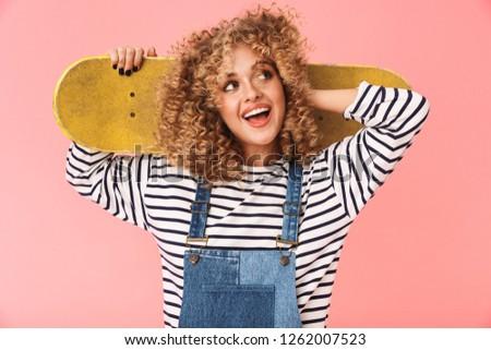 фото улыбаясь фигурист девушки 20-х годов Сток-фото © deandrobot