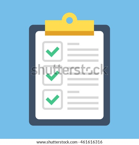 inspected check mark. vector illustration isolated on white background. Stock photo © kyryloff