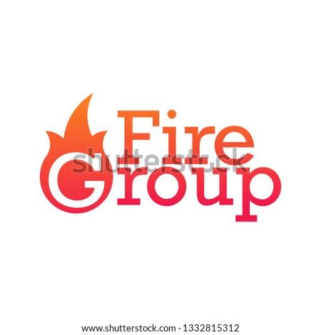 Fuego grupo departamento emblema logo aislado Foto stock © kyryloff