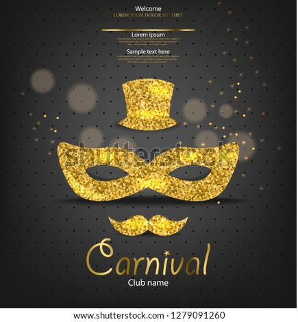 Carnaval or glitter masque vecteur réaliste Photo stock © frimufilms