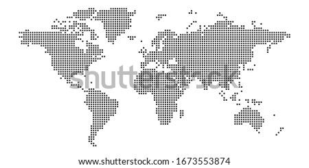Siyah yarım ton noktalı dünya haritası harita dizayn Stok fotoğraf © kyryloff