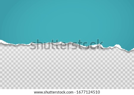 Horizontal torn paper edge. Ripped squared horizontal white paper strips. Vector illustration stock photo © olehsvetiukha