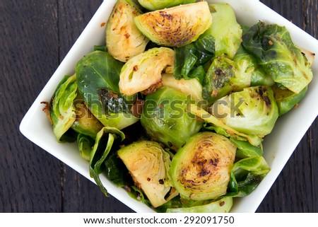 Vegetáriánus tál pörkölt fokhagyma étel természet Stock fotó © Melnyk