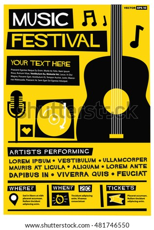 Vecteur festival de musique affiche modèle théâtre stade Photo stock © orson