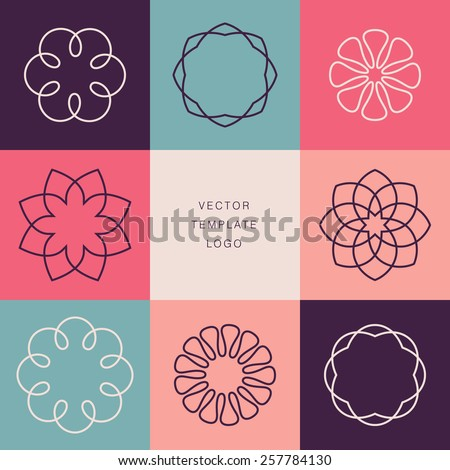 Set of abstract lineart, linear, modern and simple design of icons Stock photo © marish