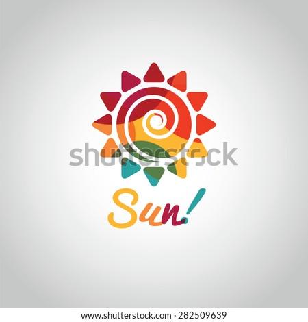 Sol logotipo diferente modelo de design isolado Foto stock © kyryloff