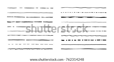 line art vector hand drawn doodles cartoon set of artist combinations of objects stock photo © balabolka