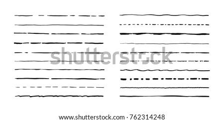Line art vector hand drawn doodles cartoon set of Artist combinations of objects Stock photo © balabolka