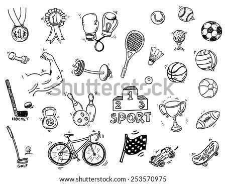 Sport vector illustratie activiteiten Stockfoto © balabolka