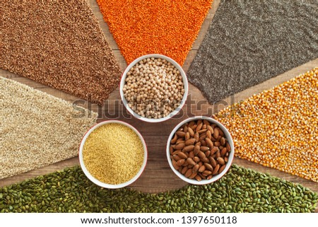Colorful grains and seeds - healthy choice variety staple food Stock photo © lightkeeper