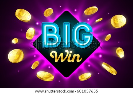 Poster with gold coins, cash - casino, fortune and jackpot banne Stock photo © Winner