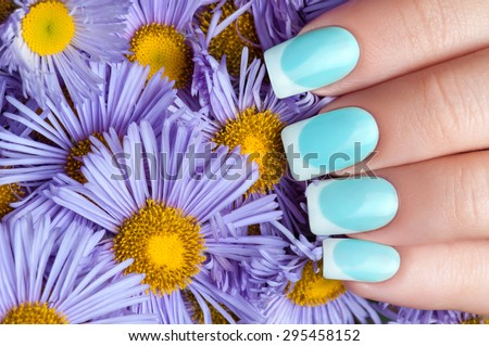 Close-up picture of beautiful nails. A good idea for the adverti Stock photo © serdechny