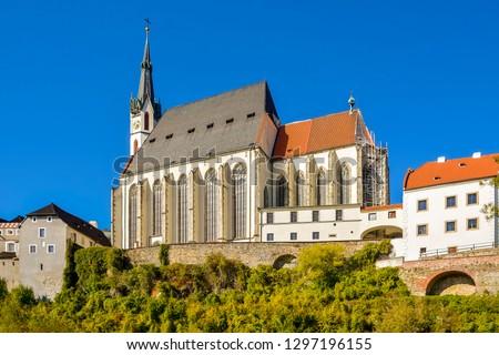 Kerk Tsjechische Republiek een twee hoofd- gebouw Stockfoto © borisb17