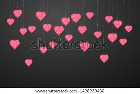 Rose brillant glitter coeur isolé Photo stock © olehsvetiukha