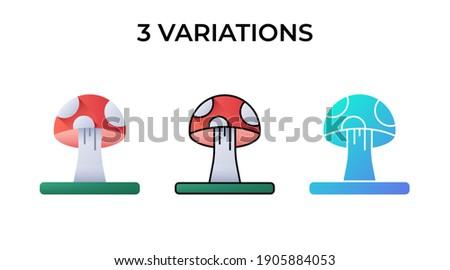 Három gombák friss természetes champignon ikon Stock fotó © MarySan
