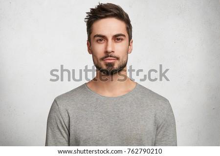 Portret mężczyzn broda wąsy studio czarny Zdjęcia stock © Lopolo
