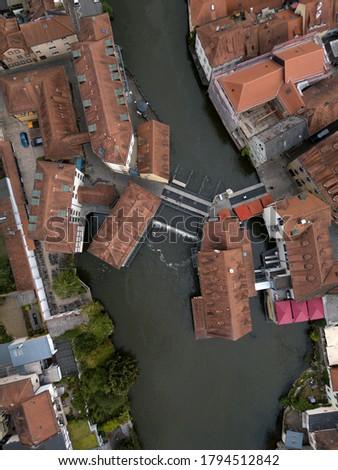 légi · tájkép · kilátás · folyó · fő- · Németország - stock fotó © xbrchx