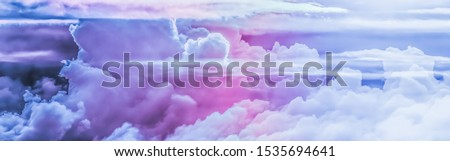 Dreamy surreal sky as abstract art, fantasy pastel colours backg Stock photo © Anneleven