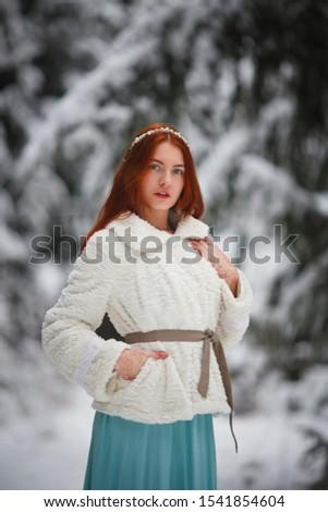 atraente · natal · foto · modelo · menina · decorações - foto stock © ElenaBatkova