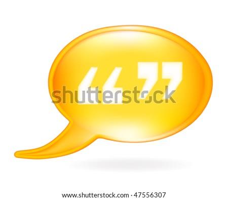 Quotation mark icon. Stock Vector illustration isolated on white background Stock photo © kyryloff