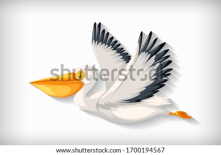 Background template with plain color and cute pelican Stock photo © bluering