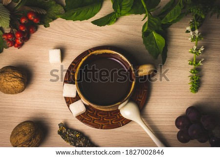 Refined sugar cubes as a grape fruit with leaf from granulated sugar. Stock photo © artjazz