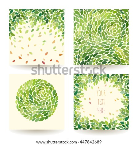 Vector set of abstract floral greeting cards with simple flowers Stock photo © ussr